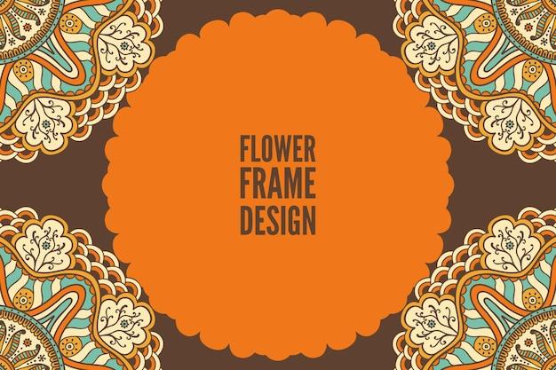 Wedding invitation template with mandala design