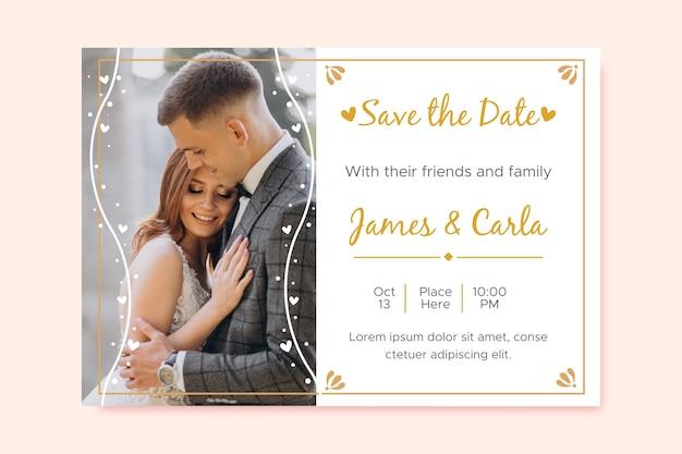 사진 결혼식 초대장 템플릿