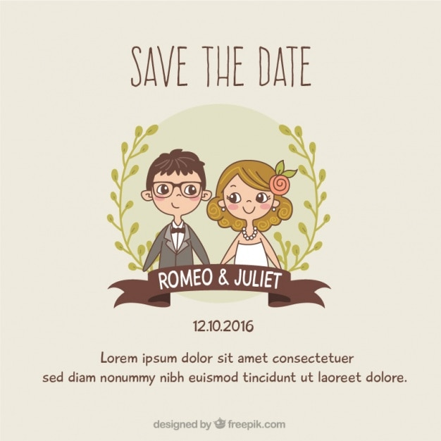 Free Wedding invitation template SVG DXF EPS PNG