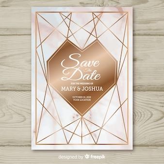 Wedding invitation template