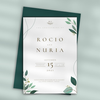 Wedding invitation theme