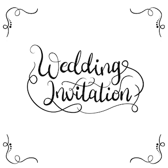 Wedding invitation typography for invitation card