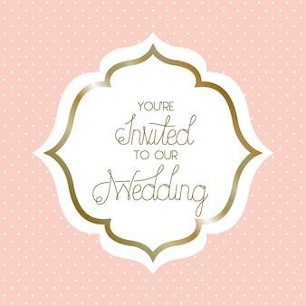 Wedding invitation victorian frame