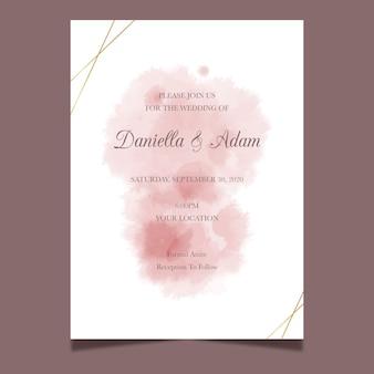 Свадебный пригласительный акварельный дизайн