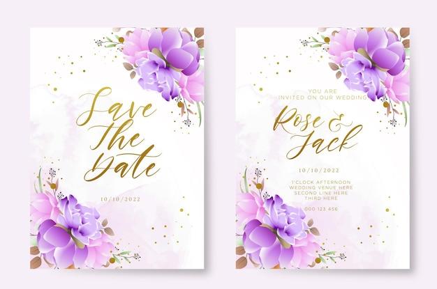 Свадебные приглашения акварель цветочный дизайн