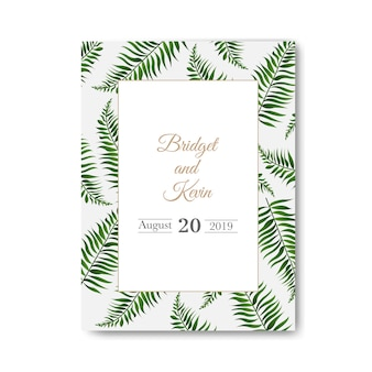 Wedding invitation  white background