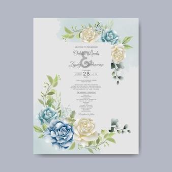 아름다운 꽃 결혼 초대장