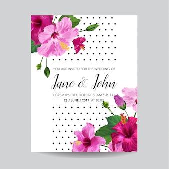 Свадебные приглашения с цветами. сохраните карточку даты