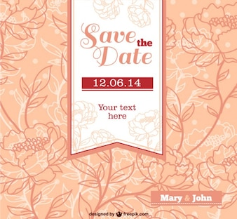 Wedding theme vectors photos and psd files free download wedding invitation with flowers junglespirit Gallery