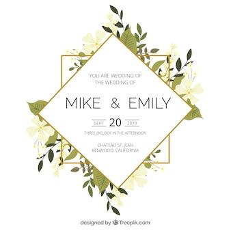 花の結婚式招待状