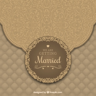 Wedding invitation with ornaments