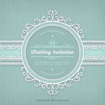 Wedding invitation with vintage frame