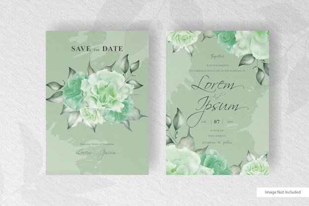 Свадебное приглашение с акварельными цветами и всплесками
