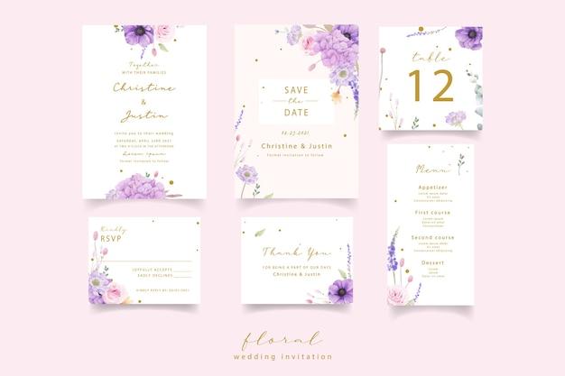 Свадебные приглашения с акварельными розами