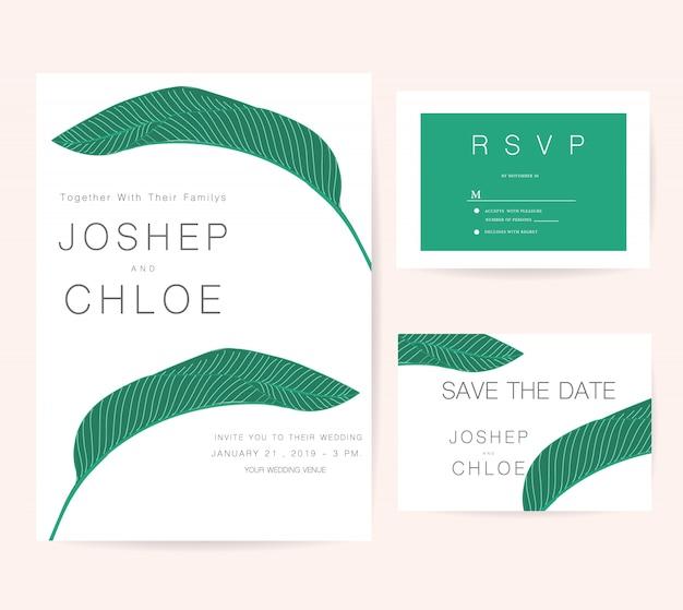 Wedding invitations set