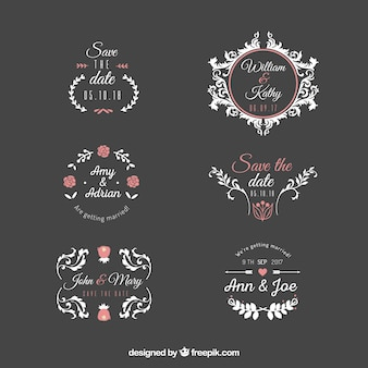 Wedding label set