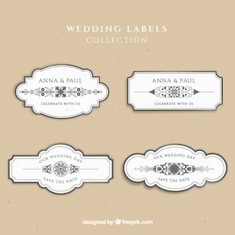 Wedding labels collection
