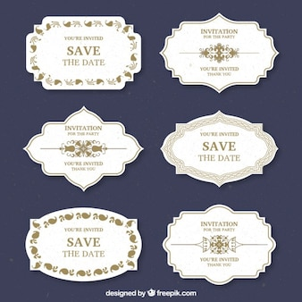 Wedding labels design