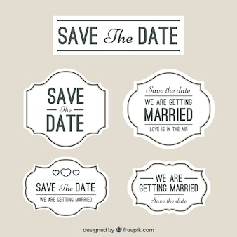結婚式のラベル、日付を保存