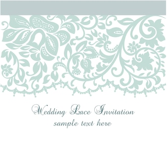 Wedding lace invitation template