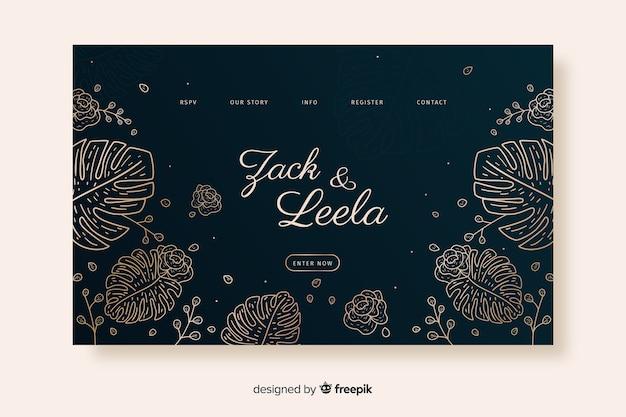 Wedding landing page