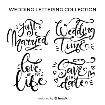 Wedding lettering collection