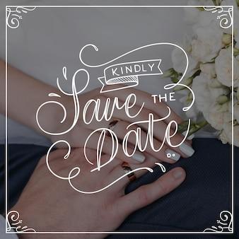 結婚式のレタリングデザイン