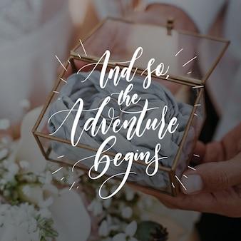 Wedding lettering design