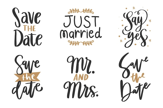 Wedding lettering save the date
