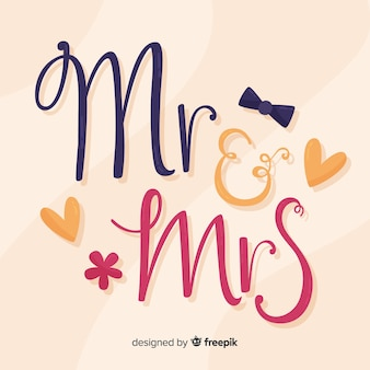 Wedding lettering