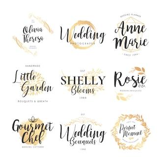 Wedding logo collection