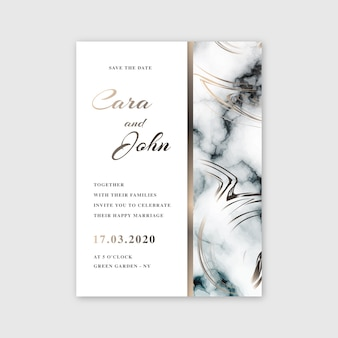 Wedding marble card template design