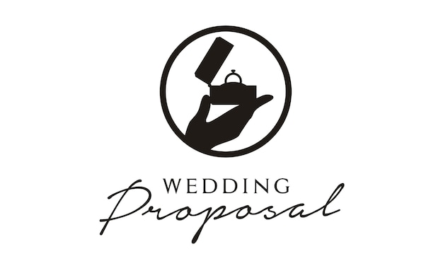 Wedding / marry proposal logo design