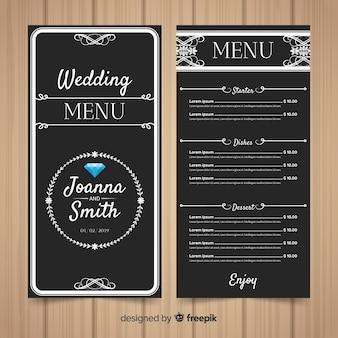 Wedding menu template