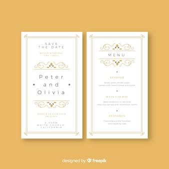 Шаблон свадебного меню