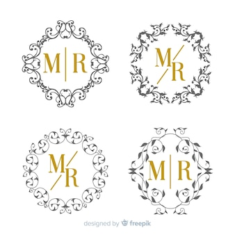 Wedding monogram collection template