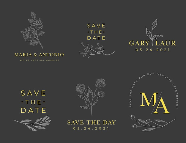 Wedding monogram logo collection