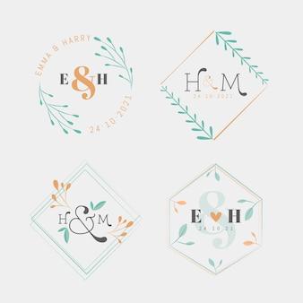 웨딩 모노그램 로고 컬렉션