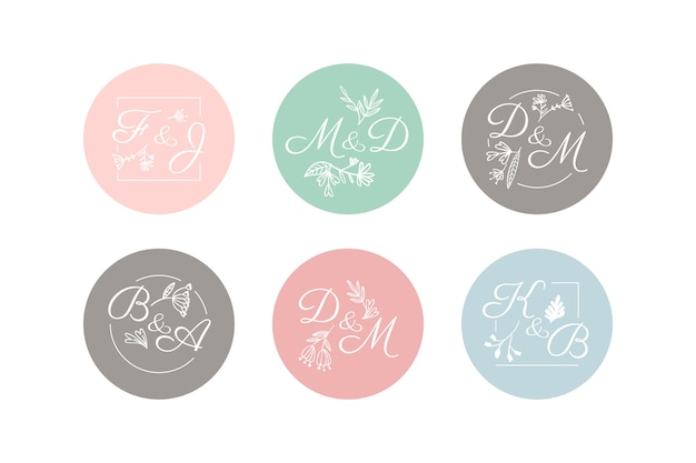 Wedding monogram pack