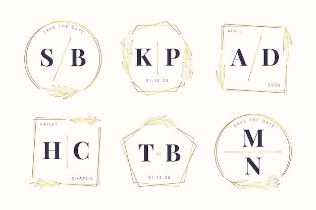 Collezione di monogrammi di nozze