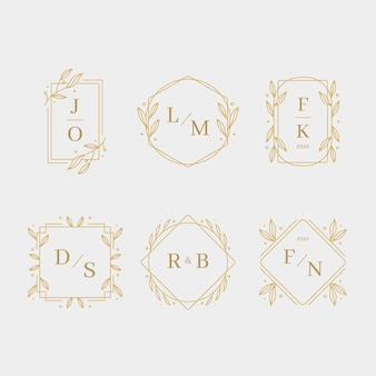 Wedding monograms elegant design