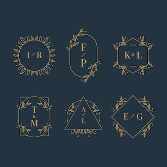 Wedding monograms elegant style