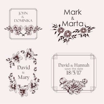 Wedding names with flowers