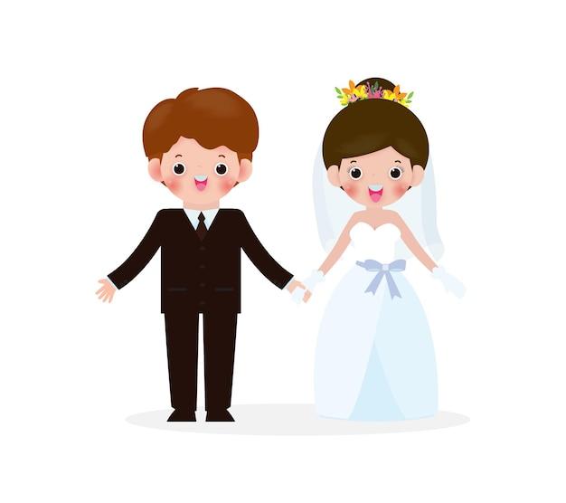 부부 사람들 개념, 남자와 사랑에 빠진 여자의 결혼식.