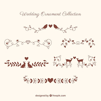 Wedding ornament collection with animals