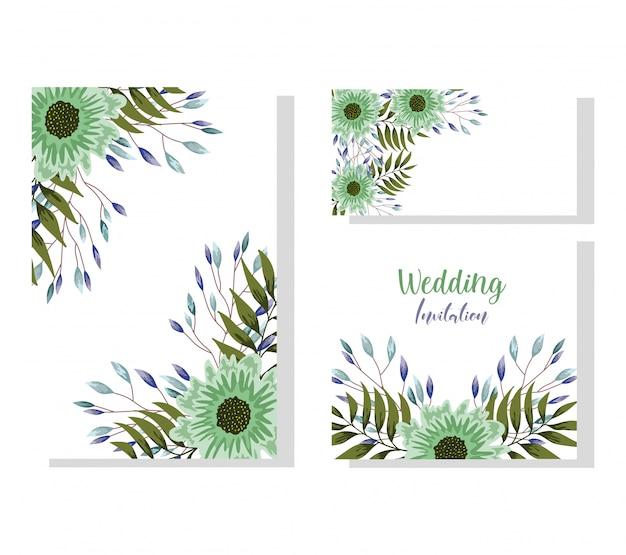 結婚式の飾り花装飾自然なグリーティングカードや招待状
