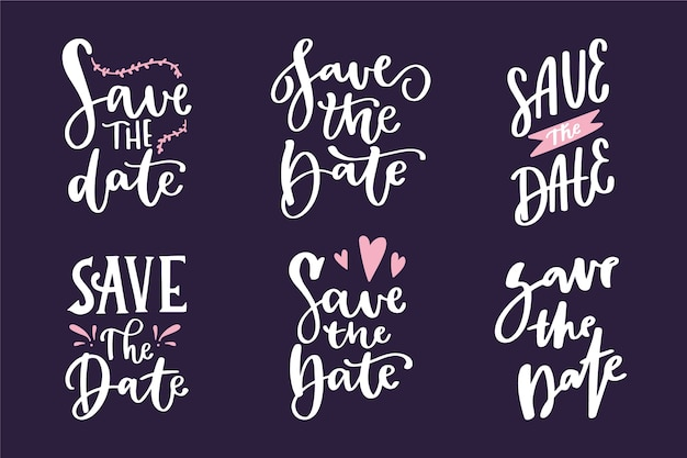 Wedding ornamental lettering collection