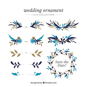 Wedding ornaments collection to decorate