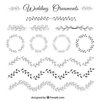 Коллекция свадебных украшений без цвета