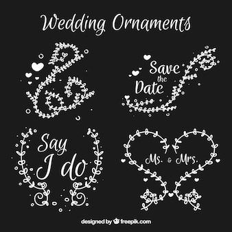 かわいいスタイルの結婚式の装飾品